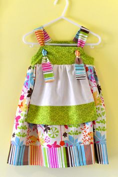 Children's Apron Knot Dress in Floral by KatrinaOfTwoMoms on Etsy, $30.00