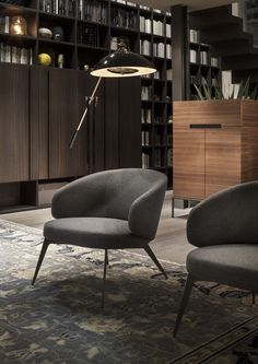 Cadeira lounge estofada de tecido com braços BICE by Lema design Roberto Lazzeroni