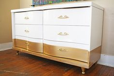 "I have seen several dressers that are ""dipped"" on the bottom and I have to say I'm really liking it."