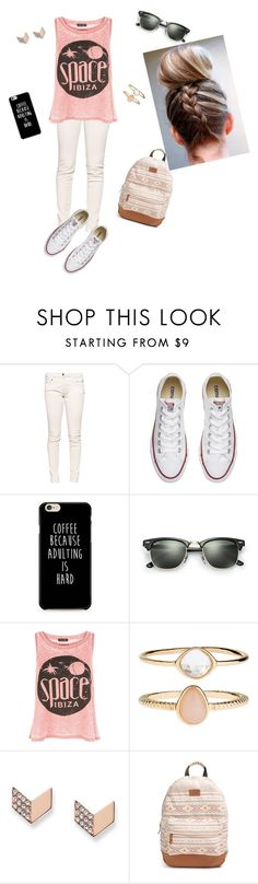 """""""😜😋😉☺️"""" by niky44 ❤ liked on Polyvore featuring Great Plains, Converse, Ray-Ban, New Look, Accessorize, FOSSIL and Rip Curl"""