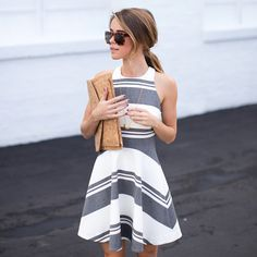 40 Bewitching Summer Work Outfits for Women - Casual Dresses - Ideas of Casual Dresses Style Casual, Work Casual, Casual Summer Outfits For Work, Summer Work Fashion, Casual Work Dresses, Casual Wear, Long Dresses, Halter Dresses, Work Dresses For Women