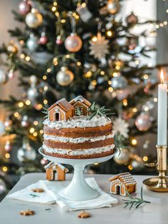 Chrismas Cake, Ny Food, House Cake, Cupcakes, Most Delicious Recipe, Cake Photography, Incredible Recipes, Sweet Pastries, Christmas Mood