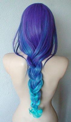 Мечта!! Голубые волосы!