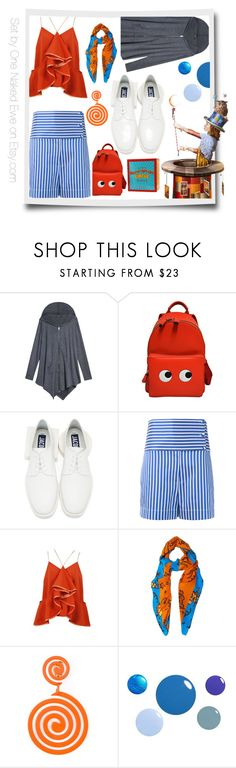 """""""60 Seconds Amusement Park"""" by onenakedewe ❤ liked on Polyvore featuring Anya Hindmarch, Jacquemus, Ports 1961, Loewe, Moschino, Britney Spears and 60secondstyle"""