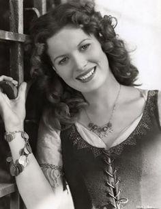 Lovely, legendary film star during the golden era of Hollywood, actress Maureen O'Hara