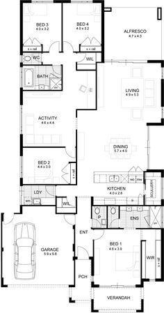 Apg Homes. 30 Apg Homes. Apg Homes Malibu Display Homes Floorplan Modern House Floor Plans, Home Design Floor Plans, Bungalow House Plans, New House Plans, Dream House Plans, Floor Design, House Design, 4 Bedroom House Plans, Minimal Home