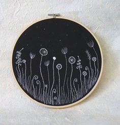 Цветы в вышивке