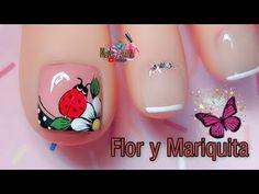 Pretty Toe Nails, Pretty Toes, Nail Art Videos, Manicure, Nail Polish, Lily, Makita, Pretty Pedicures, Purple Nail