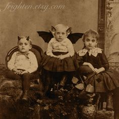 victorian halloween decorations | Halloween Decor, Mixed Media Collage Print, We're a Creepy Family ...