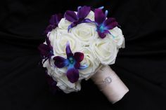 Orchid & Rose Wedding Bouquet Collection