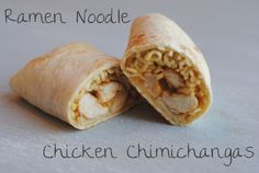 Don't Hate. Ramen Noodle Chicken Chimichangas. They're actually good!