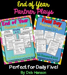 Partner Plays- a fun end-of-year activity where students read scripts with a partner.  Excellent fluency-building activity! (TpT resource)