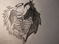 pencil drawings of angel and devil - Google Search