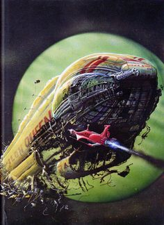One more time, an other Uk Sci-Fi artist. Here are some paintings by Bob Layzell, famous illustrator mostly inspired by Space crafts, Sci-Fi, Anticipation and Cosmic paysages. Space Fantasy, Sci Fi Fantasy, Sci Fi Kunst, Science Fiction Kunst, Arte Robot, 70s Sci Fi Art, Classic Sci Fi, Sci Fi Books, Fantasy Illustration