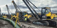 Volvo PL3005D pipelayer long reach booms get the job done from the pipelayer to the trench