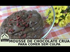 Mousse de chocolate crua fácil e saudável (vegan)