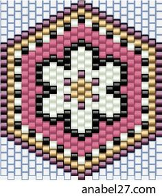 - Схемы для бисероплетения / Free bead patterns -: Серьги - схемы мозаика / Earrings - peyote patterns