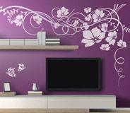 Adesivi Murali: Floreale con farfalle 2