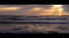 Sunset Cliffs, surf at sunset