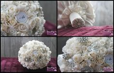 #Beautiful #ivory #roses with #pops of #sparkly #silver! This #bouquet is so #elegant! What are your thoughts?  #alternativebouquet #stunning #brooches #sparkles #alternative #wedding #bride #instaweddings #handmade #love #weddingparty #celebration  #bridesmaids #ceremony #romance #marriage #weddingday #broochbouquets #fashion #flowers #australia  www.nicsbuttonbuds.com.au www.facebook.com/nicsbuttonbuds www.pinterest.com/nicsbuttonbuds www.instagram.com/nicsbuttonbuds…