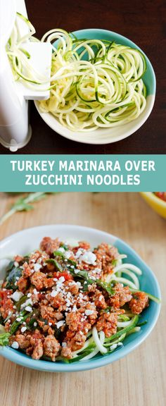 Turkey Marinara over