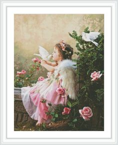 Angel Counted Cross Stitch Pattern  Large Cross by GCStitchDIY