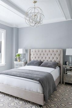 7 Victorious Tips AND Tricks: Chic Bedroom Remodel small bedroom remodel house plans.Guest Bedroom Remodel Tips master bedroom remodel ikea hacks. Bedroom Colour Palette, Grey Palette, Small Bedrooms, Master Bedrooms, Master Bedroom Grey, Bedroom Modern, Contemporary Bedroom, Grey Bedrooms, Grey Bedroom Walls