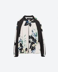 Image 6 of FLORAL PRINT BOMBER JACKET from Zara