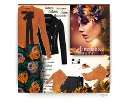 """""""Autumn Rose"""" by anjelakewell ❤ liked on Polyvore featuring Superdry, Bamboo, Yves Saint Laurent and Rochas"""