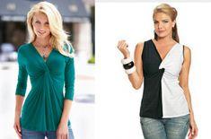 Modelo de drapeado fácil de fazer que pode ser feita de uma cor só ou compondo com outra cor como esta preta e branca da Vestemoda.  Segue esquema de modelagem da blusa sem manga, do PP ao EGG para malha.