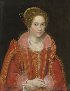 Ottavio Maria Leoni (ROME 1587 - 1630) PORTRAIT OF A LADY, HALF-LENGTH, DRESSED IN PINK oil on copper 11 3/8  by 8 3/4  in.; 28.7 by 22.1 cm.