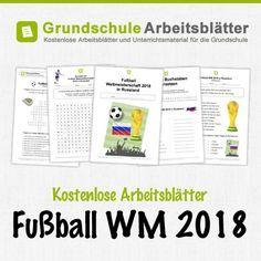 Kostenlose Arbeitsblätter zur Fußball WM 2018 in Russland