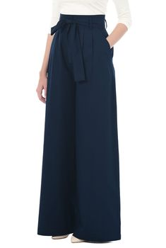 wide leg pants and beach pajamas high waist stretch poplin palazzo pants at