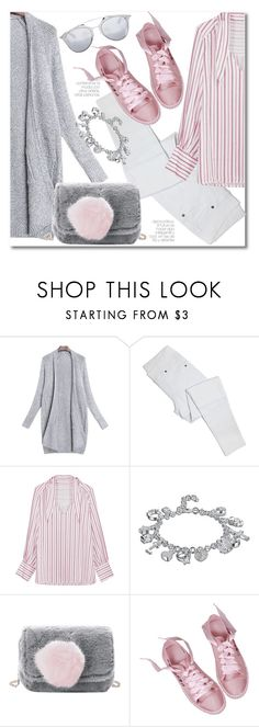 """""""Cardigan mood"""" by laurafox27 ❤ liked on Polyvore featuring Christian Dior"""