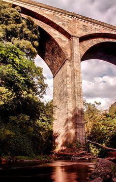 Dean Bridge in Edinburgh. Scotland