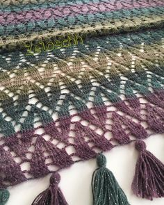 Of Best of 2019 😀 (best of this year because I haven& knitted yet) - tig isleri Crochet Shawl Diagram, Afghan Crochet Patterns, Crochet Stitches, Knitting Patterns, Love Crochet, Crochet Lace, Baby Scarf, Crochet Fashion, Crochet Scarves
