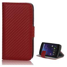 Etui portefeuille en cuir fibre de carbone pour LG Nexus 4 - dispo ici: http://www.mobile24.fr/shop/etui-portefeuille-en-98131p.html