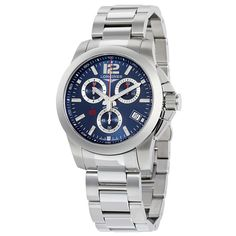 Longines Conquest Chrono Blue Dial Stainless Steel Men's Watch L3.700.4.96.6 - Conquest - Longines - Shop Watches by Brand - Jomashop