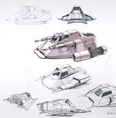 Snowspeeder concept by Ralph McQuarrie (no. 158)