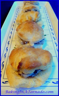 Recipe for Mushroom Stuffed Buttermilk Biscuits included. Delicious Recipes, Snack Recipes, Cooking Recipes, Snacks, Mama Recipe, Good Food, Yummy Food, Buttermilk Biscuits