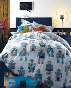 Boys Bedding Robots