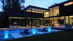 Sleek and sexy modern property in Oakville, Ontario, Canada by architect Guido Costantino