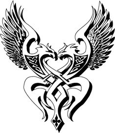 Melding Norse and Celtic beliefs. I like the shape and idea, not so much the eagles. Celtic Patterns, Celtic Designs, Celtic Tattoos, Viking Tattoos, Eagle Tattoos, Tribal Tattoos, Aa Tattoos, Girl Tattoos, Dragon Coloring Page