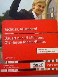 """Mein Lieblingsplakat. """"Wir verweigern Beratungsleistung. Und genau damit machen wir Werbung."""" Armes Deutschland. Blog, Counseling, Finance, Things To Do, Poster, Germany, Pictures, Blogging"""