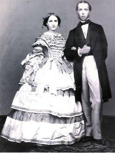 Emperor Maximiliano I and Empress Carlota of Mexico ~ a terribly unhappy marriage, for her especially
