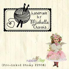 Rubber Stamp For Crocheter / Crochet Artist. di myrubberstamp