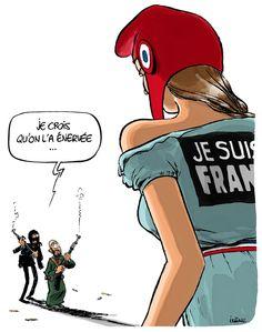 """The day after. #JeSuisCharlie #JeNeSuisPasCharlie #JeSuisLaFrance"""