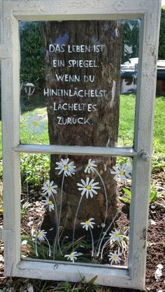 Hand-labeled windows for outdoor use only suitable for pick-up. Hand-labeled windows for outdoor use only for pick-up. Also myDeko Garden Mother's Day old windows. Gift shabby chic in Bavaria but can also be perfect locations … Indoor Garden, Outdoor Gardens, Home And Garden, Jardin Vertical Artificial, Old Windows, Shed Storage, Most Beautiful Pictures, Lawn, Pergola