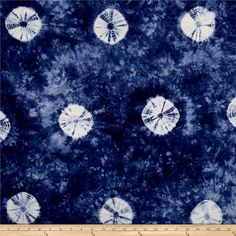 Indian Batik Wind Cave Tie Dye Blue /White from @fabricdotcom  From Textile Creations, this Indian batik is perfect for quilting and is also suitable for apparel projects like dresses skirts, and even blouses. Colors include blue and white.