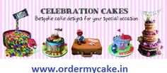 Exclusive offers Buy Cakes Online Order My Cake is a one stop shop to buy cakes online. The cake shops in your locality are listed on our website. Get to choose from hundreds of cake varieties to gift.visit us at - www.ordermycake.in